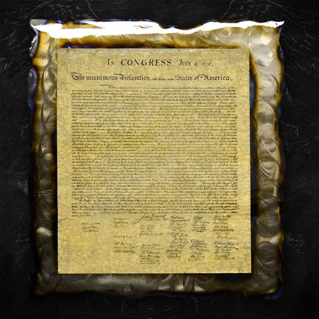 American Liquid Metal - Declaration of Independence Sign