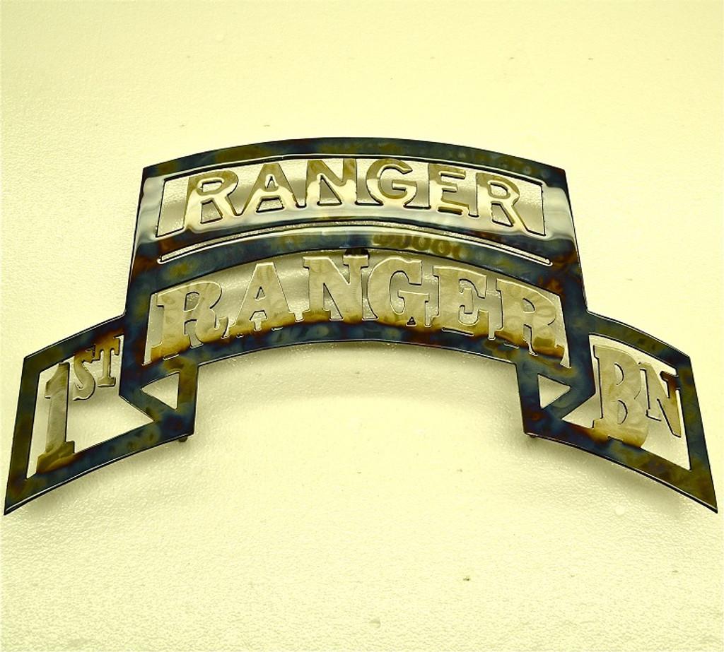 American Liquid Metal - 1/75th Ranger Regiment with Ranger Tab Sign