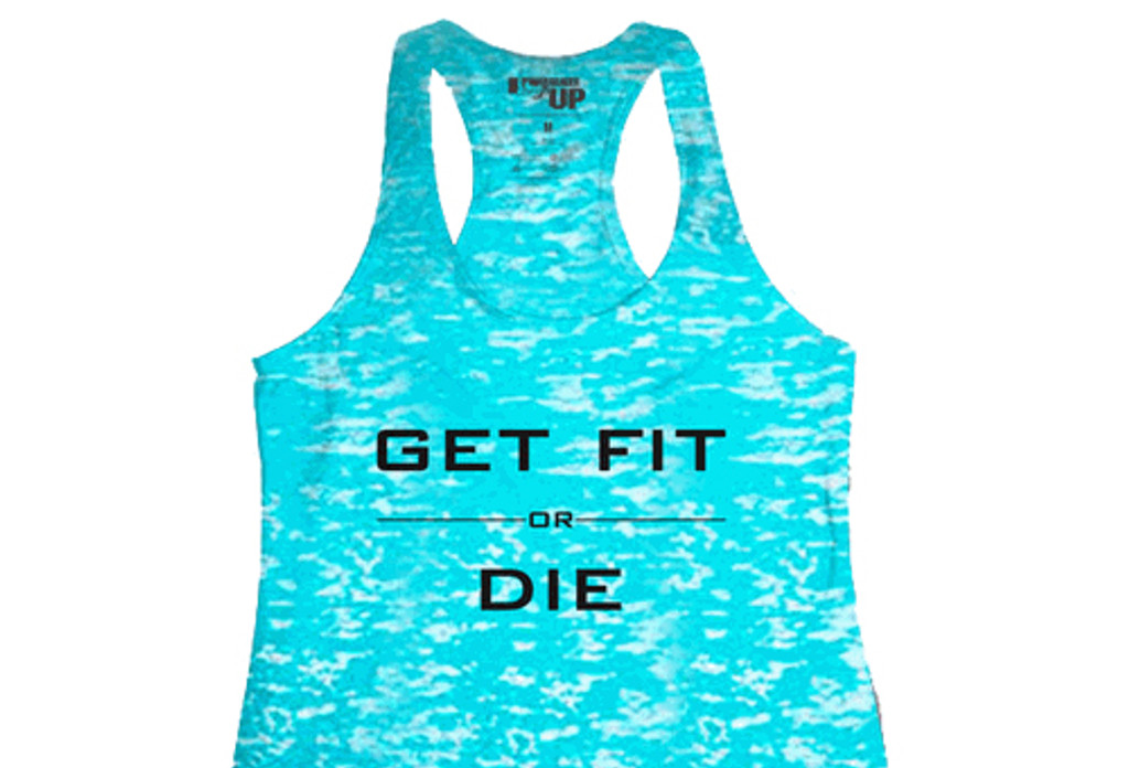 Women's Tahiti Blue Racerback Hard to Kill Tank