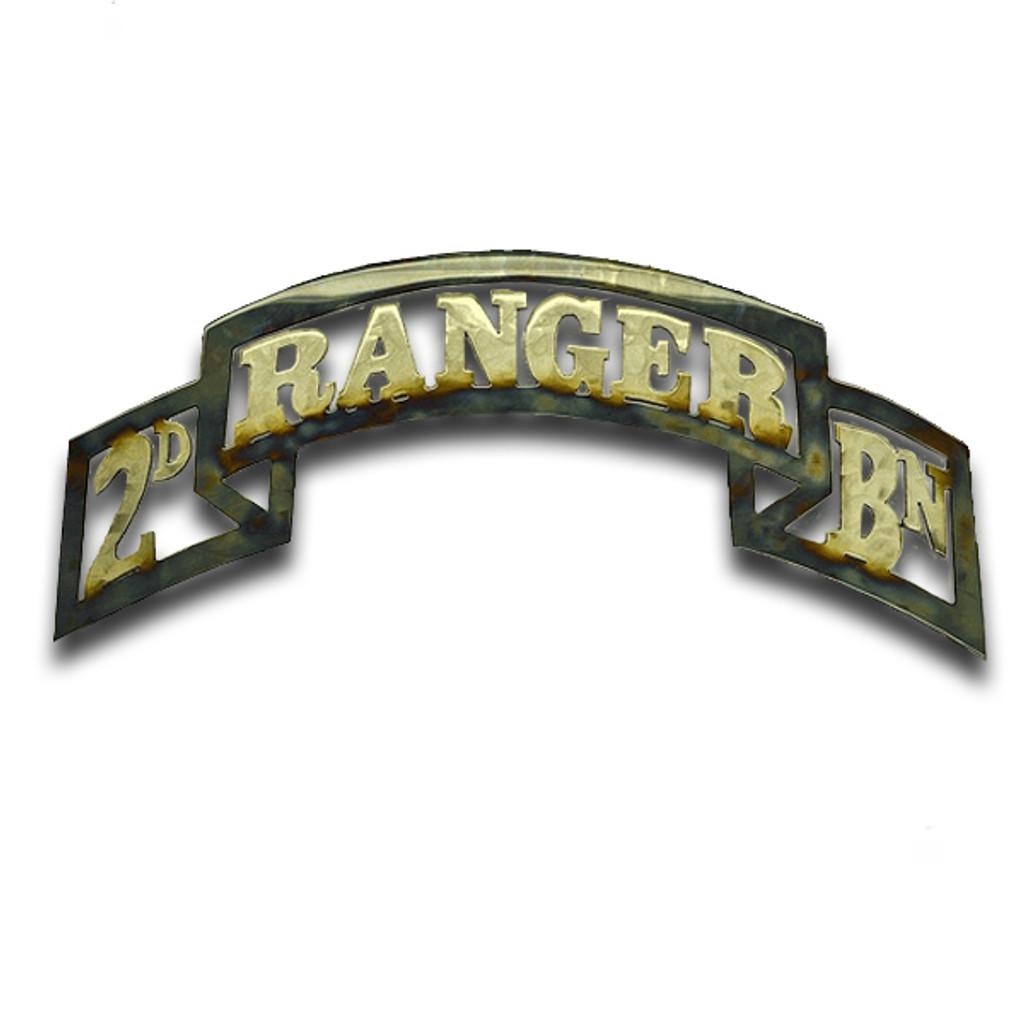 American Liquid Metal - 2/75th Ranger Regiment Scroll Sign