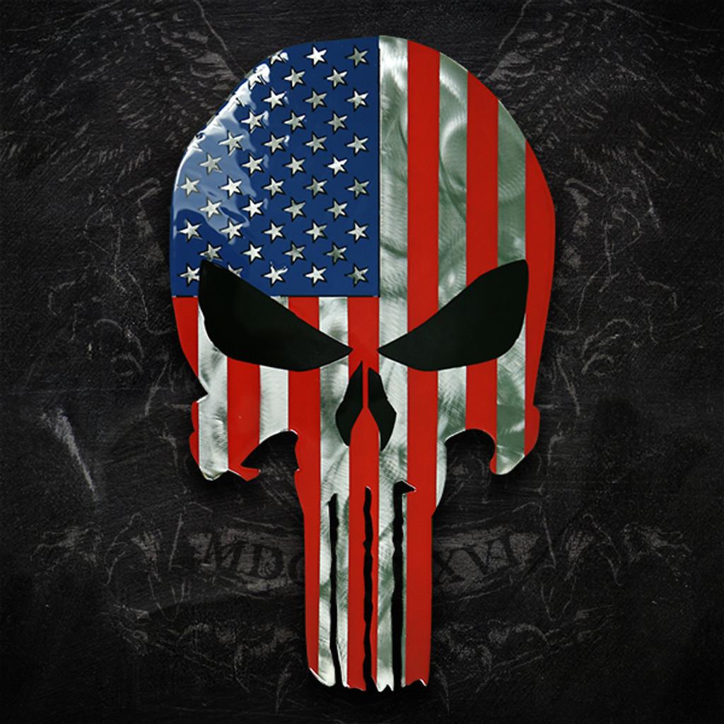 American Liquid Metal American Skull Sign