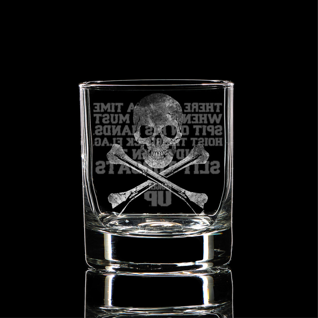 Hoist The Black Flag Whiskey Glass