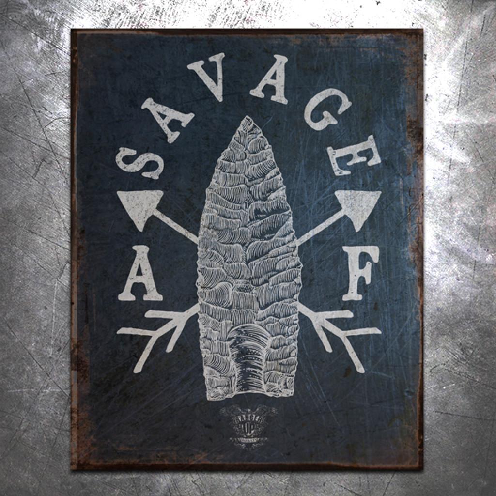 Savage AF Vintage Tin Sign