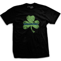 PREORDER Thin Blue Line Shamrock Normal-Fit T-Shirt
