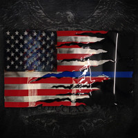 American Liquid Metal - Thin Blue Line Transformation Sign