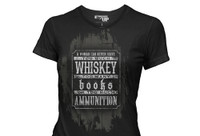PREORDER WOMEN'S Books, Whiskey and Ammunition T-Shirt