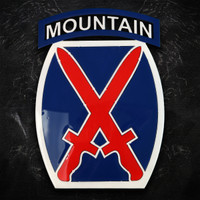 American Liquid Metal - 10th Mountain Limited Edition Sign