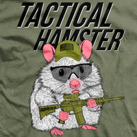 Tactical Hamster Ultra-Thin Vintage T-Shirt