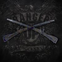 American Liquid Metal - Infantry Crossed Rifles Sign
