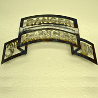 American Liquid Metal - 3/75th Ranger Battalion with Ranger Tab Sign