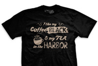 PREORDER My Coffee Black and My Tea in the Harbor Ultra-Thin Vintage T-Shirt