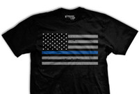 PREORDER Thin Blue Line Flag Normal-Fit T-Shirt