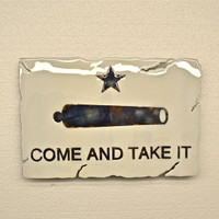 American Liquid Metal - Come and Take It Flag Sign