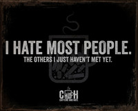 I Hate Most People Vintage Tin Sign