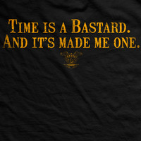 Old Man's Club Time Is A Bastard Normal-Fit T-Shirt