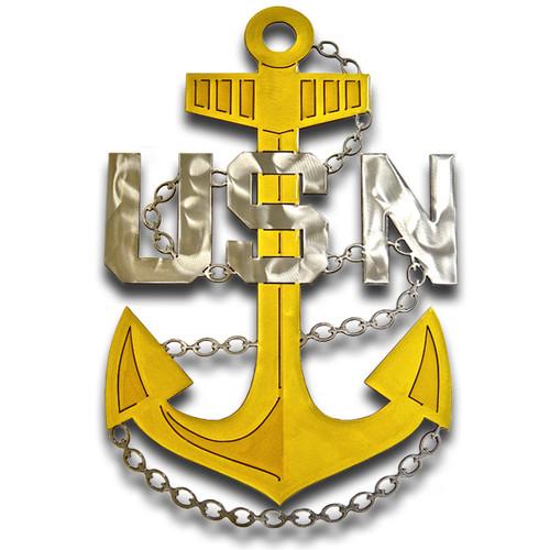 American Liquid Metal - Navy Chief Anchor Sign