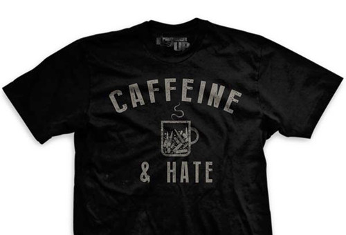 Bullets Caffeine and Hate Ultra-Thin Vintage T-Shirt