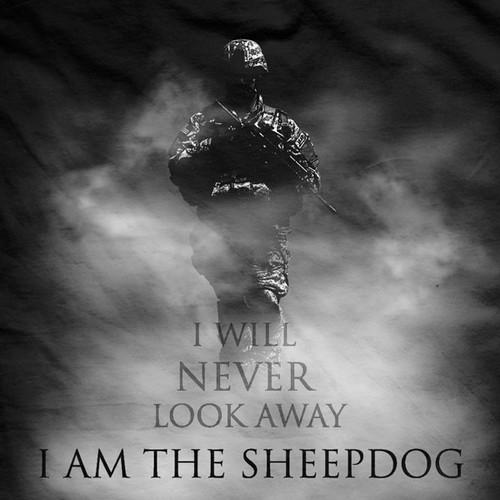 Evil Exists Sheepdog Normal-Fit T-Shirt