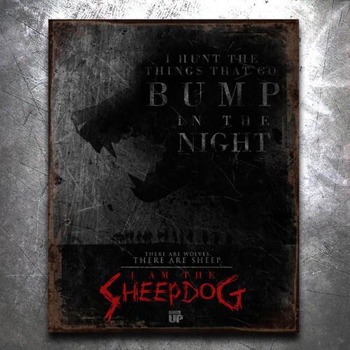 I Am the Sheepdog Vintage Tin Sign