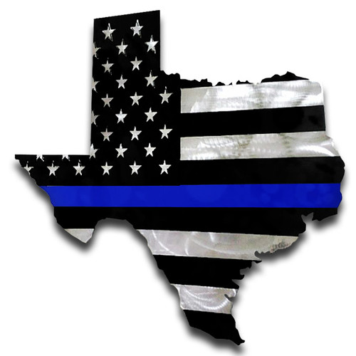 American Liquid Metal Texas Thin Blue Line Sign