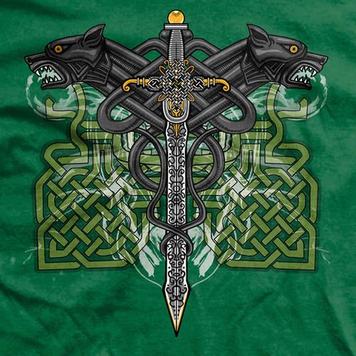 Celtic Warrior Ultra-Thin Vintage T-Shirt