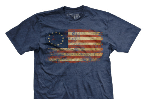 Betsy Ross Glory Ultra-Thin Vintage T-shirt