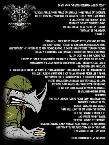 The Damn Few Rhino Gun Control Poster