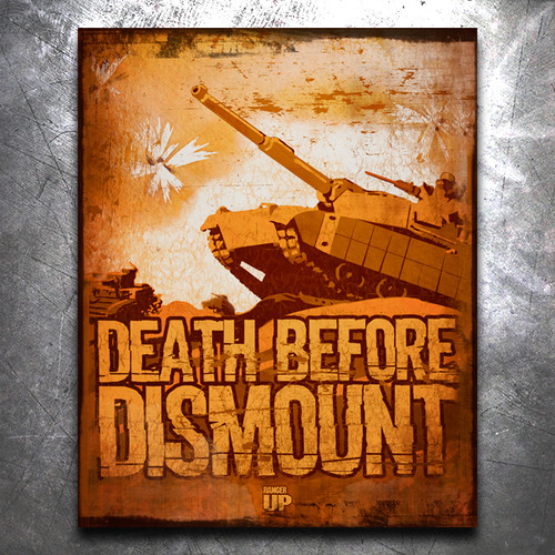 Death Before Dismount Vintage Tin Sign