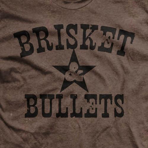 Brisket and Bullets Ultra-Thin Vintage T-Shirt