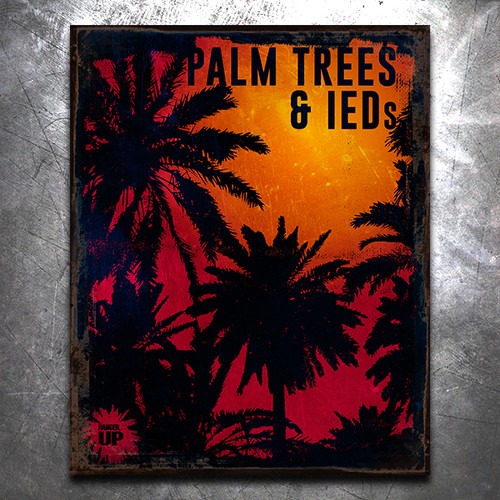 Palm Trees Vintage Tin Sign