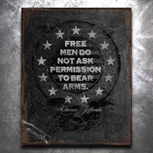 Free Men Vintage Tin Sign