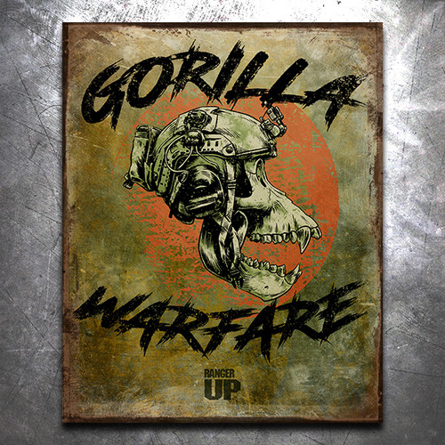 Gorilla Warfare Vintage Tin Sign