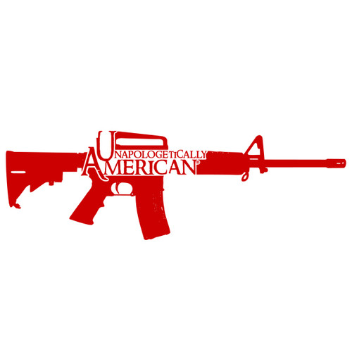 Unapologetically American AR-15 Decal