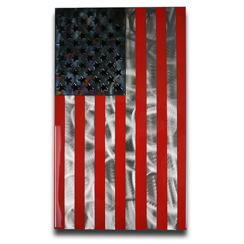 American Liquid Metal - Draped Star Spangled Banner Sign