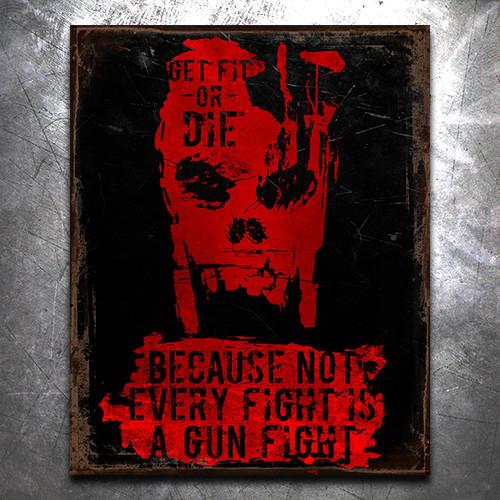GFOD Gunfight Vintage Tin Sign