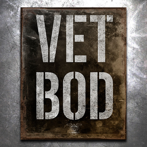 Vet Bod Vintage Tin Sign