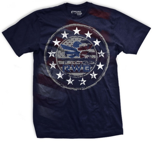 Team Red, White & Blue Charity Athletic-Fit T-shirt