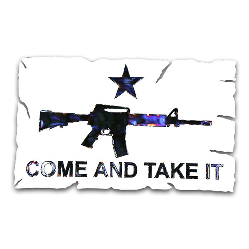 American Liquid Metal - The AR-15 Come and Take It Sign