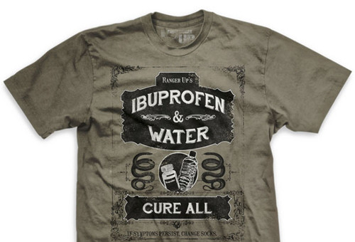 Ibuprofen and Water Cure-All Ultra-Thin Vintage T-Shirt