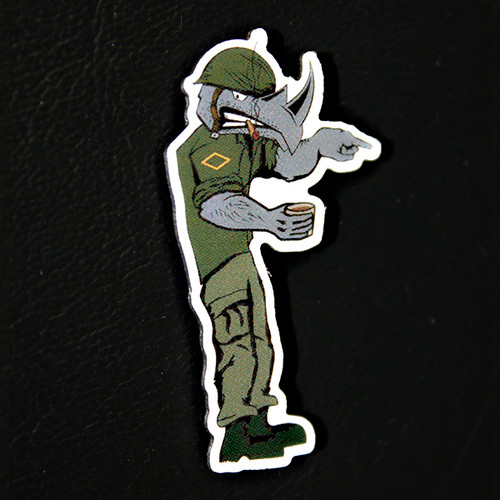 The Damn Few Rhino Pin