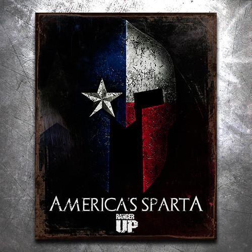 America's Sparta Vintage Tin Sign