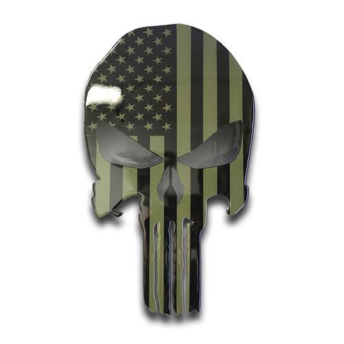 American Liquid Metal Subdued Skull Sign