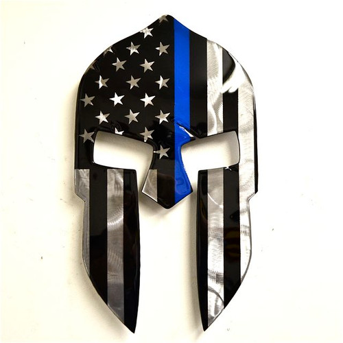 American Liquid Metal - Thin Blue Line Spartan Sign