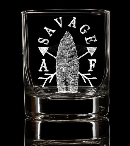 Savage AF Whiskey Glass