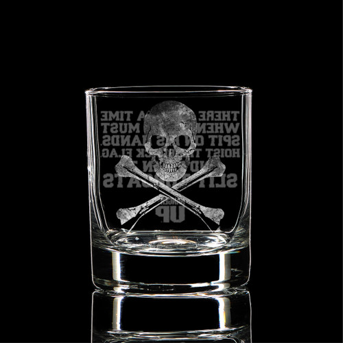 PREORDER Hoist The Black Flag Whiskey Glass