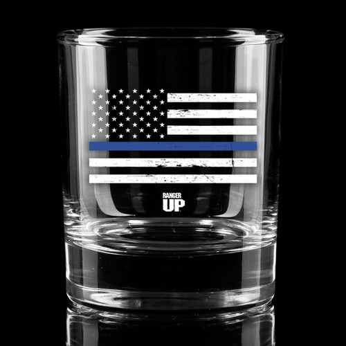 PREORDER Thin Blue Line Whiskey Glass