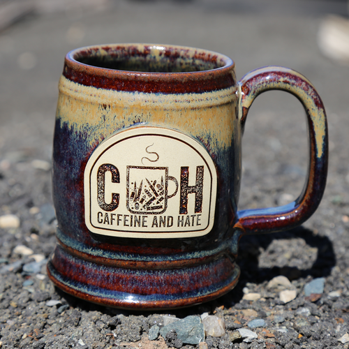 Caffeine and Hate Jug Mug - red