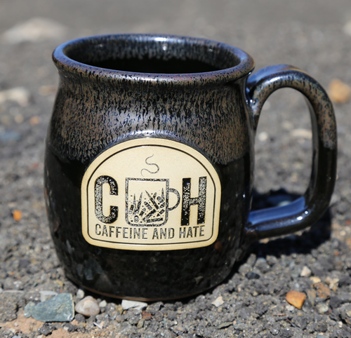 Caffeine and Hate Barrel Mug - black
