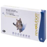 Revolution for Cats  2,6 - 7.5kg (blue) 6 pack