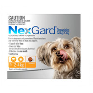 NexGard Flea and Tick Treatment for dogs in a Tasty Chew 3 pack for small dogs 2-4kg